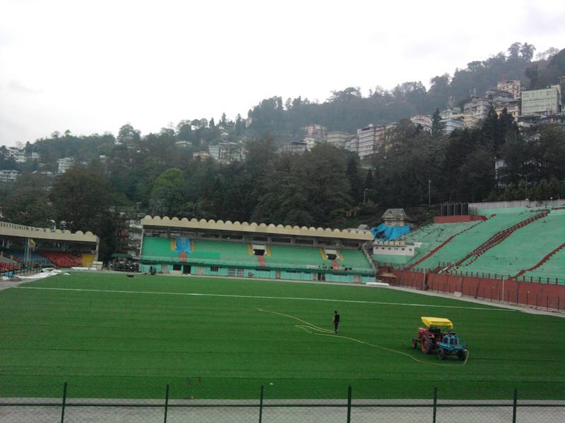 Sikkim S Paljor Stadium Gets Artficial Turf Indian