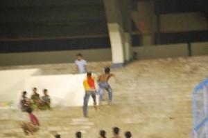 Prayag fan chased by East Bengal fan
