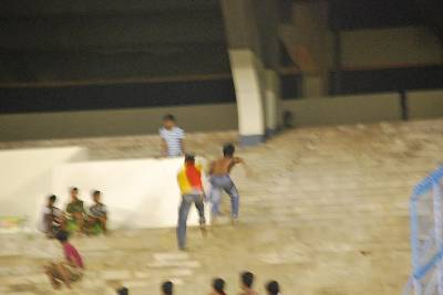 Prayag fan chased by East Bengal fan