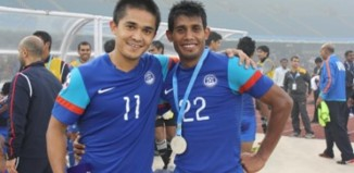 Sunil Chhetri and Rahim Nabi
