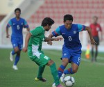 Lalrindika Ralte makes run against Turkmenistan.
