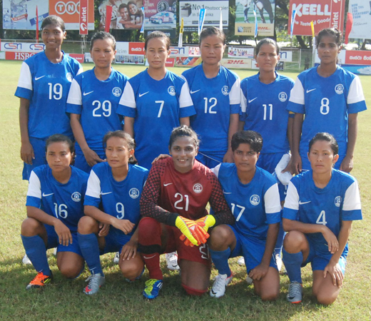 The Indian Women's Team pose for the team photo
