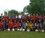 The U-19 girls assemble for the Camp