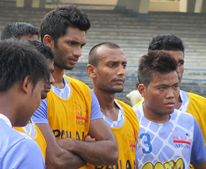 Prathamesh with arrows teammates