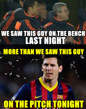 Lionel Messi invisible Barcelona Meme