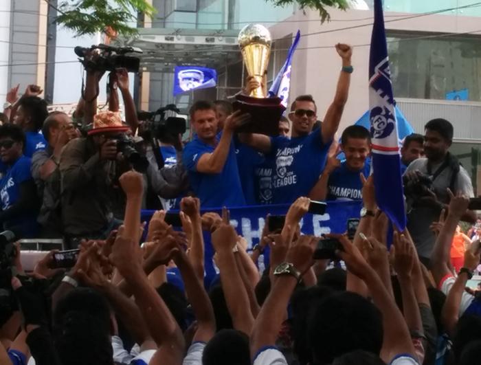 Bengaluru FC with ILeague trophy
