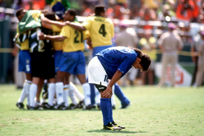 Ballon d'Or winner Roberto Baggio missed the penalty for Italy which handed Brazil the 1994 world cup
