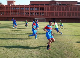 Minerva Academy FC practising for I-League 2nd Division
