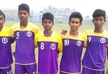 Scorers for United SC in U15 I-League against Mohun Bagan