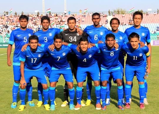 Indian Football team vs Tajikistan