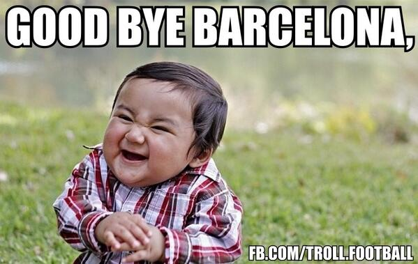 This baby trolled Barcelona like no one else