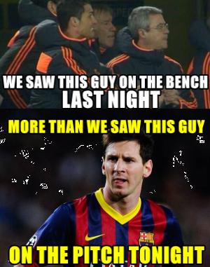 Lionel Messi invisible Barcelona Meme