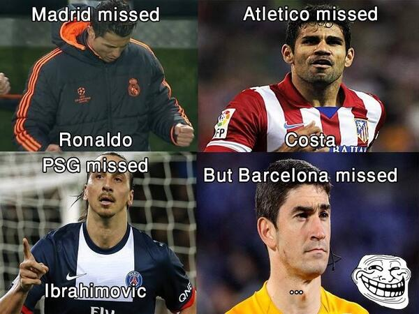 FC Barcelona missed referee meme