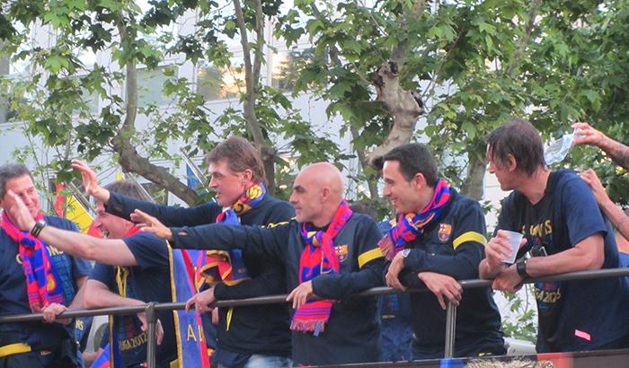 Tito Vilanova Barca Celebrations