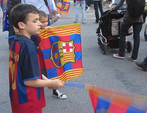 Young BARCELONA SUPPORTERS