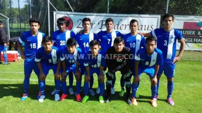 India U16 team at the AFC u16 Championship 2016